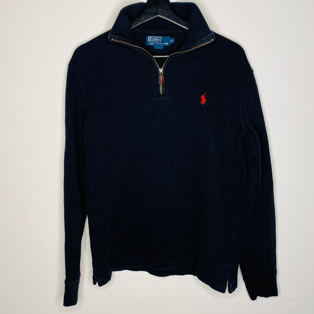 Black Quarter Zip Sweater (S)