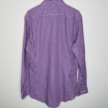 Load image into Gallery viewer, Purple Checkered Button Up Shirt (L)