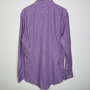 Purple Checkered Button Up Shirt (L)