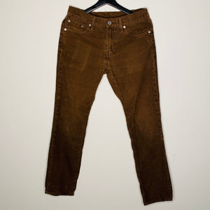 Dark Brown Corduroy 5-Pocket Pants (S)