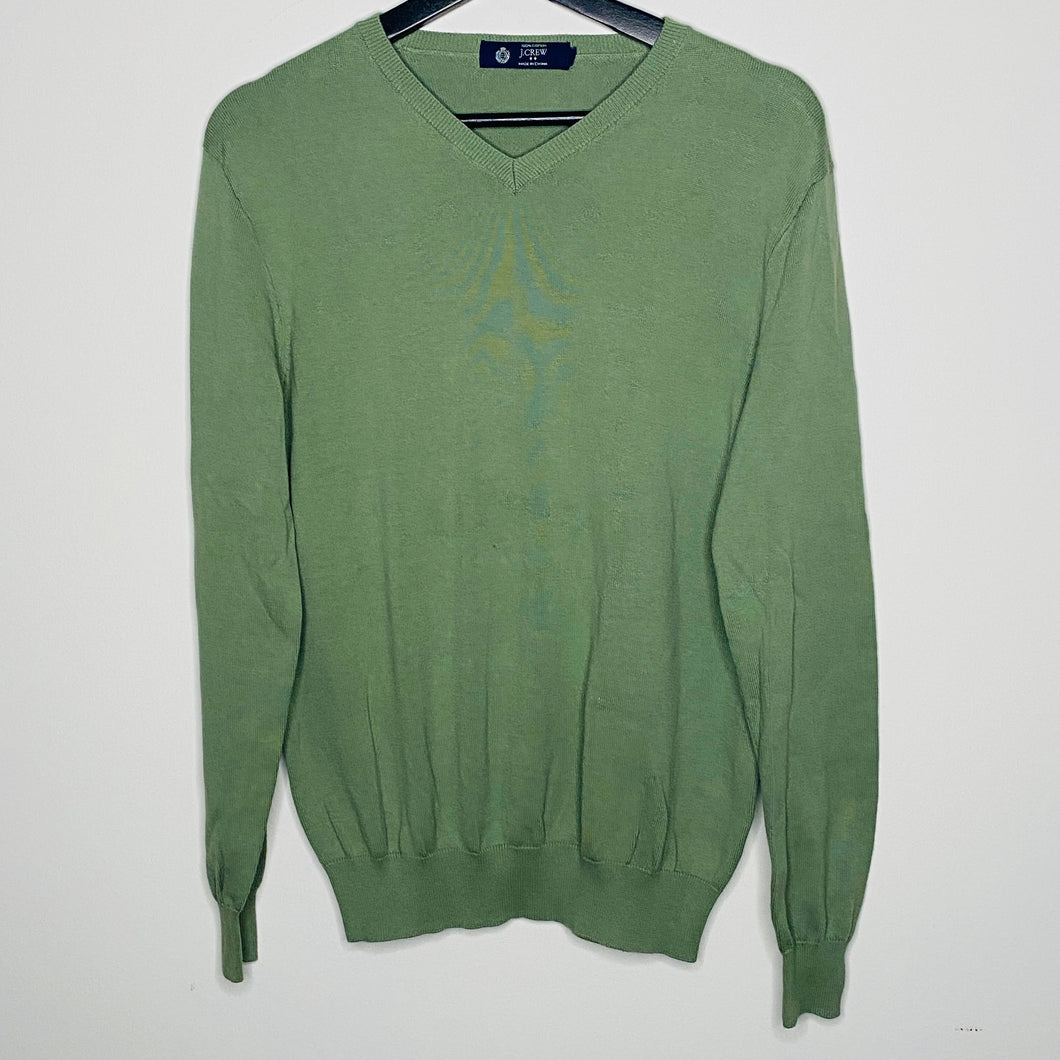 Light Olive Green V-Neck Sweater (M)