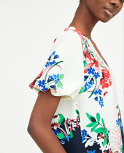 Load image into Gallery viewer, Flower Pattern V-Neckline Dress