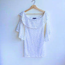 Load image into Gallery viewer, White Lace Off the Shoulders Dress