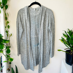 Softest Gray Open Front Hoodie (XS)