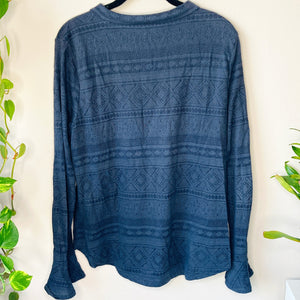 Knit Top with Flare Sleeves (L)