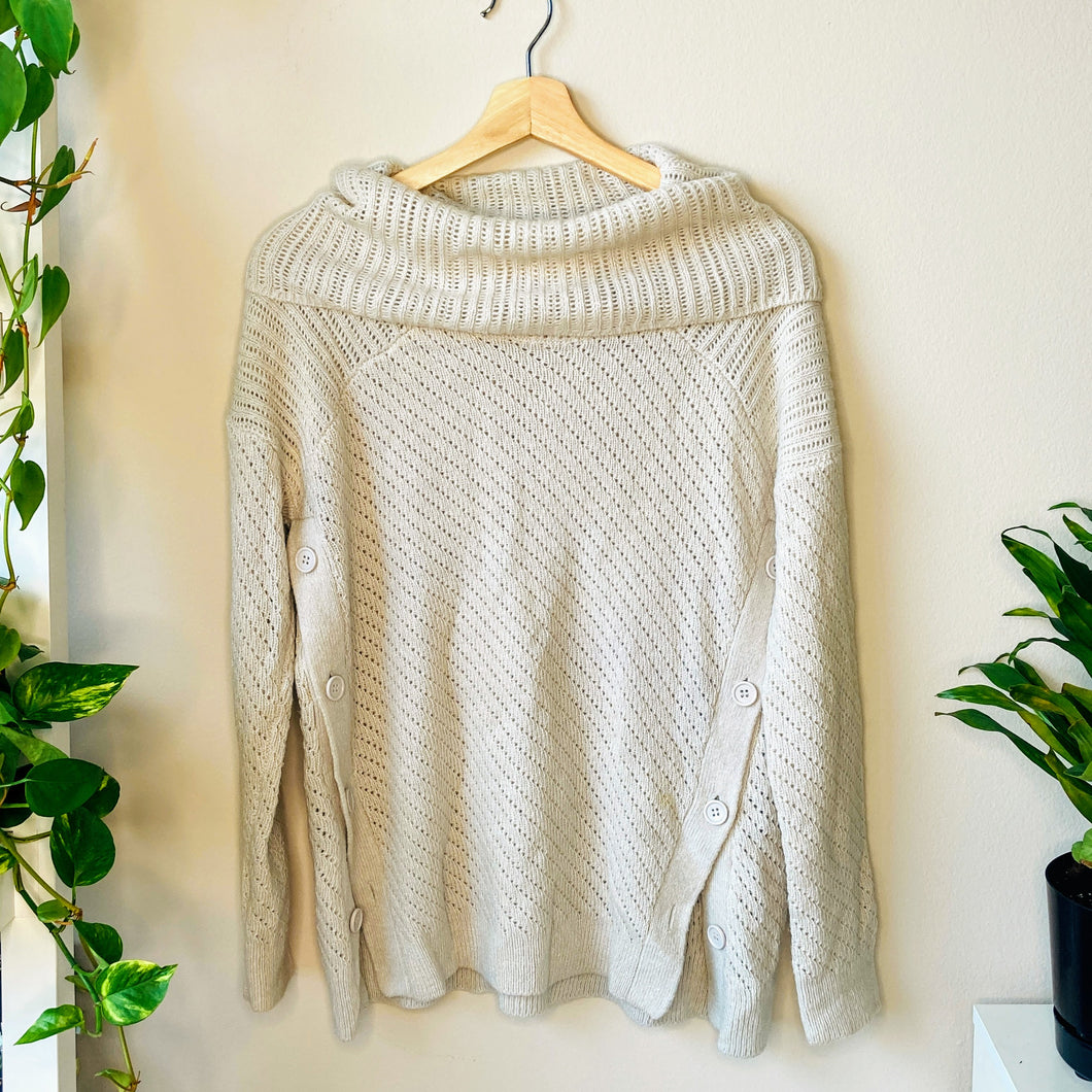 Lucky Cream Turtleneck Sweater (S)
