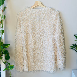 Open Cream Textured Cardigan (S)