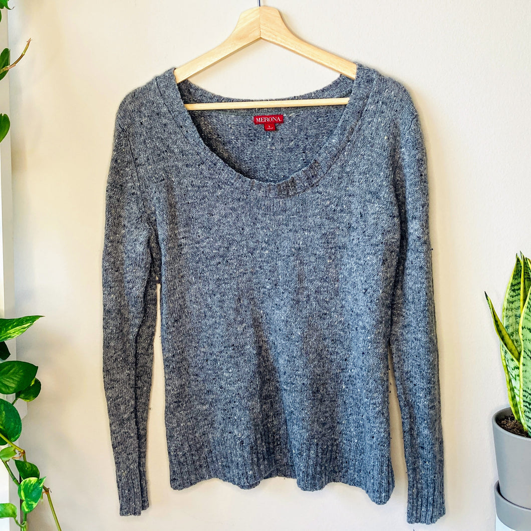 Gray Speckled Sweater (L)