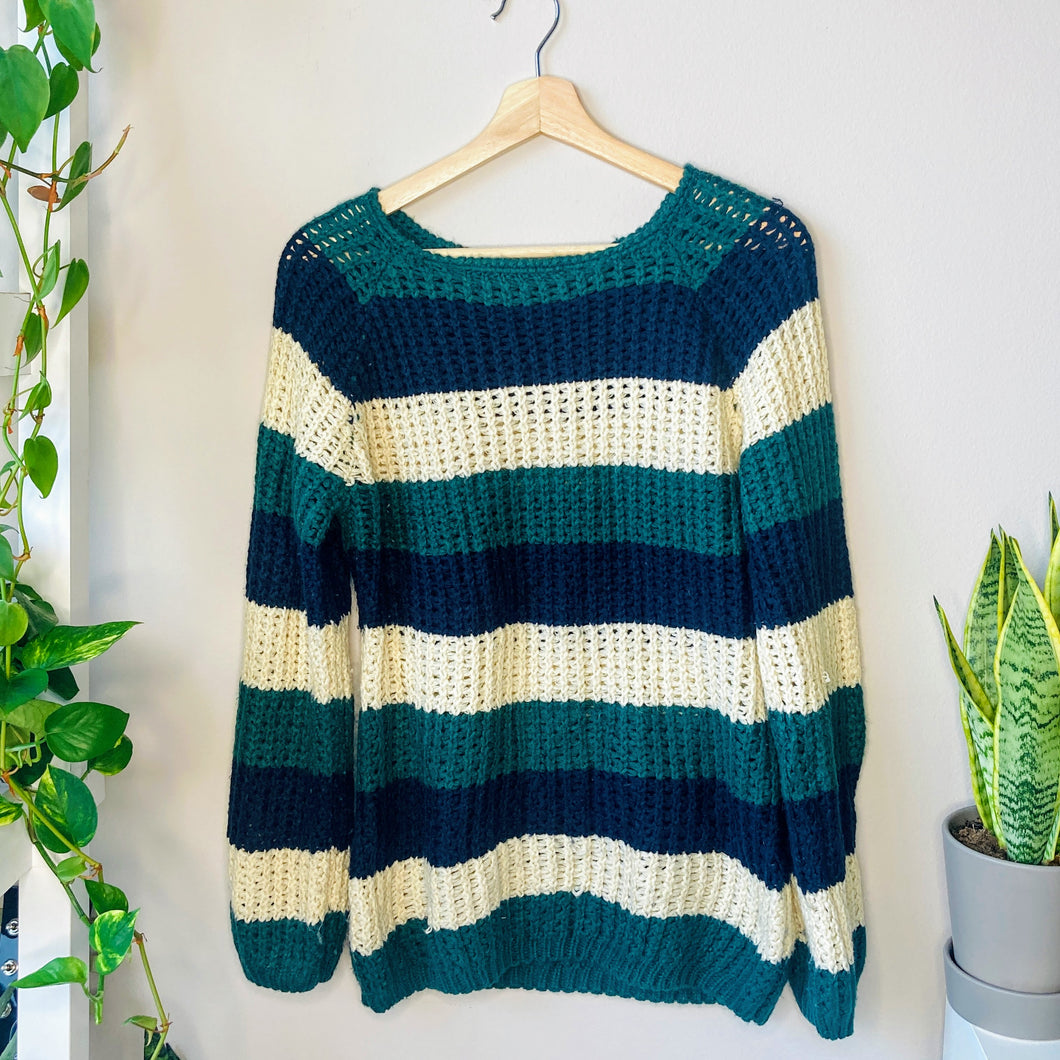 Striped Knit Sweater (S)