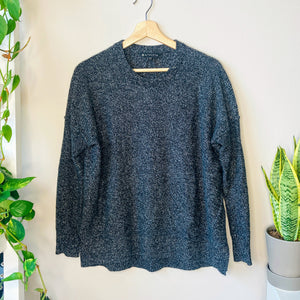 Heather Black Crewneck Sweater (XS)