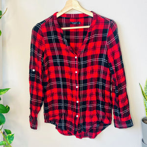 Red Flannel Top (S)