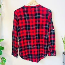 Load image into Gallery viewer, Red Flannel Top (S)