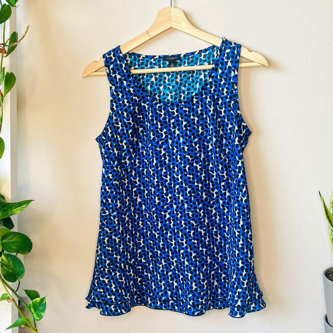 Blue Tank with Ruffles (XS)