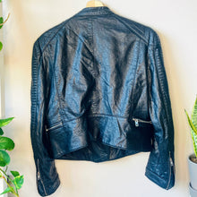 Load image into Gallery viewer, Faux Leather Moto Jacket (XL)