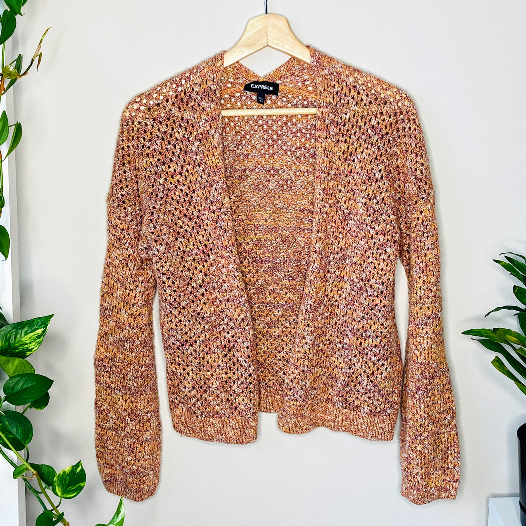 Knit Peach Cardigan (S)
