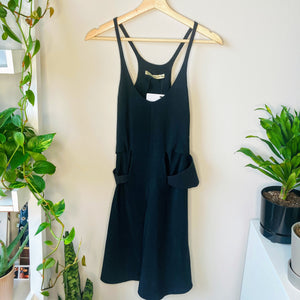 Black Racerback Dress with Belt (S)