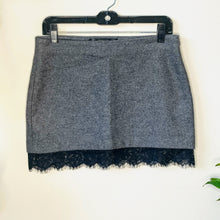 Load image into Gallery viewer, Gray Mini Skirt with Lace (S)