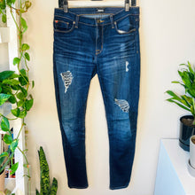 Load image into Gallery viewer, Hudson Distressed Skinny Jeans (M)