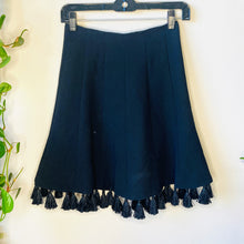 Load image into Gallery viewer, Black Tassel Skirt (XS)