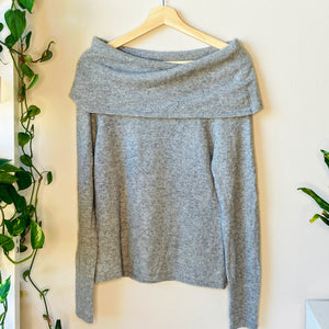 Cowl Neck Cashmere Sweater (S)