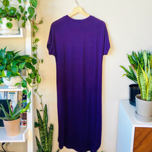 Load image into Gallery viewer, Purple T-Shirt Maxi Dress (S)