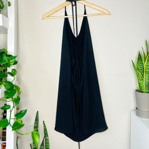 Black Halter Top Shift Dress (XS)