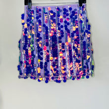 Load image into Gallery viewer, Purple Sequin Skirt (L)