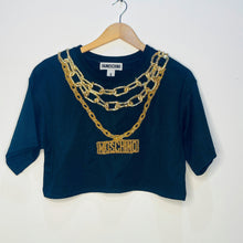 Load image into Gallery viewer, Moschino for H&M Embellished Crop Top (S)