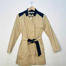 Load image into Gallery viewer, Trench Coat with Vegan Leather Accents (S)