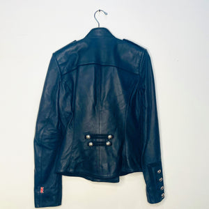 Embellished Leather Jacket (S)
