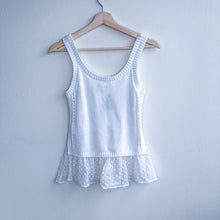 Load image into Gallery viewer, White Knitted Top