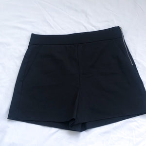 Black Dressy Shorts Side Zipper