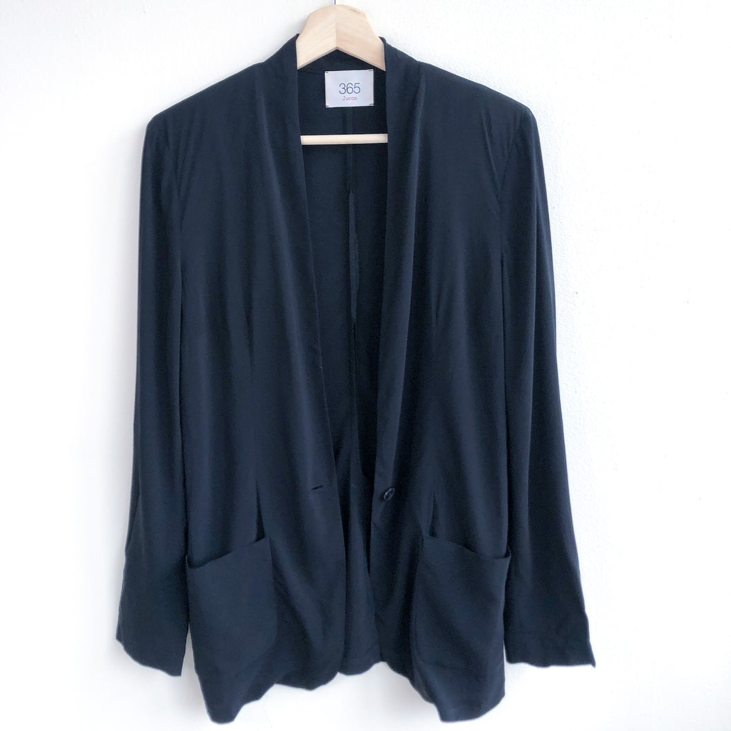 Deconstructed Black Sheet Blazer
