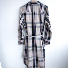 Load image into Gallery viewer, Belted Plaid Shirt Dress (L)