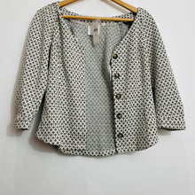 Load image into Gallery viewer, Anthropologie White Gold Button Down Blouse