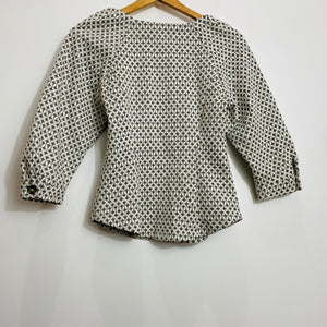 Anthropologie White Gold Button Down Blouse