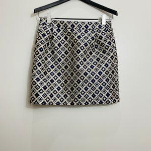 J. Crew Geometric Printed Mini Skirt