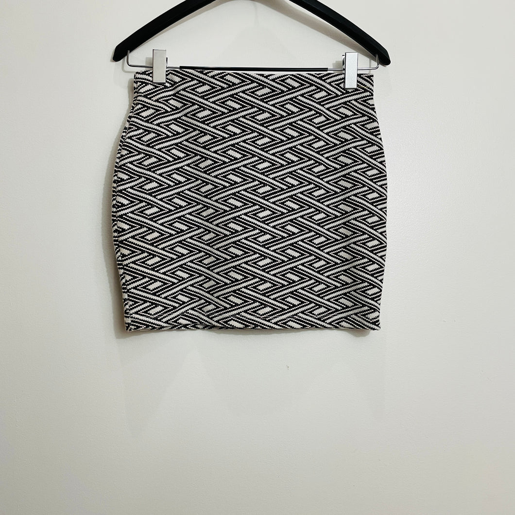 Zara Chevron Silhouette Mini Skirt
