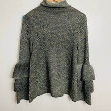 Load image into Gallery viewer, Knox Rose Ruffle Sleeves Turtle Neck Sweater