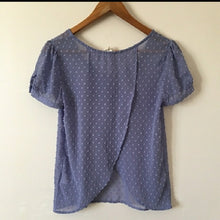 Load image into Gallery viewer, Purple Dotted Textured Blouse