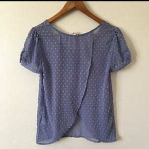 Purple Dotted Textured Blouse