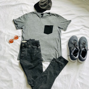 Charcoal Gray Stretch Skinny Jeans