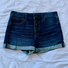 Load image into Gallery viewer, Button Up Jean Shorts