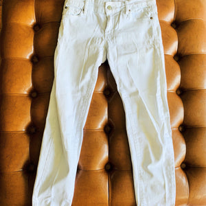 Crop Skinny White Jeans