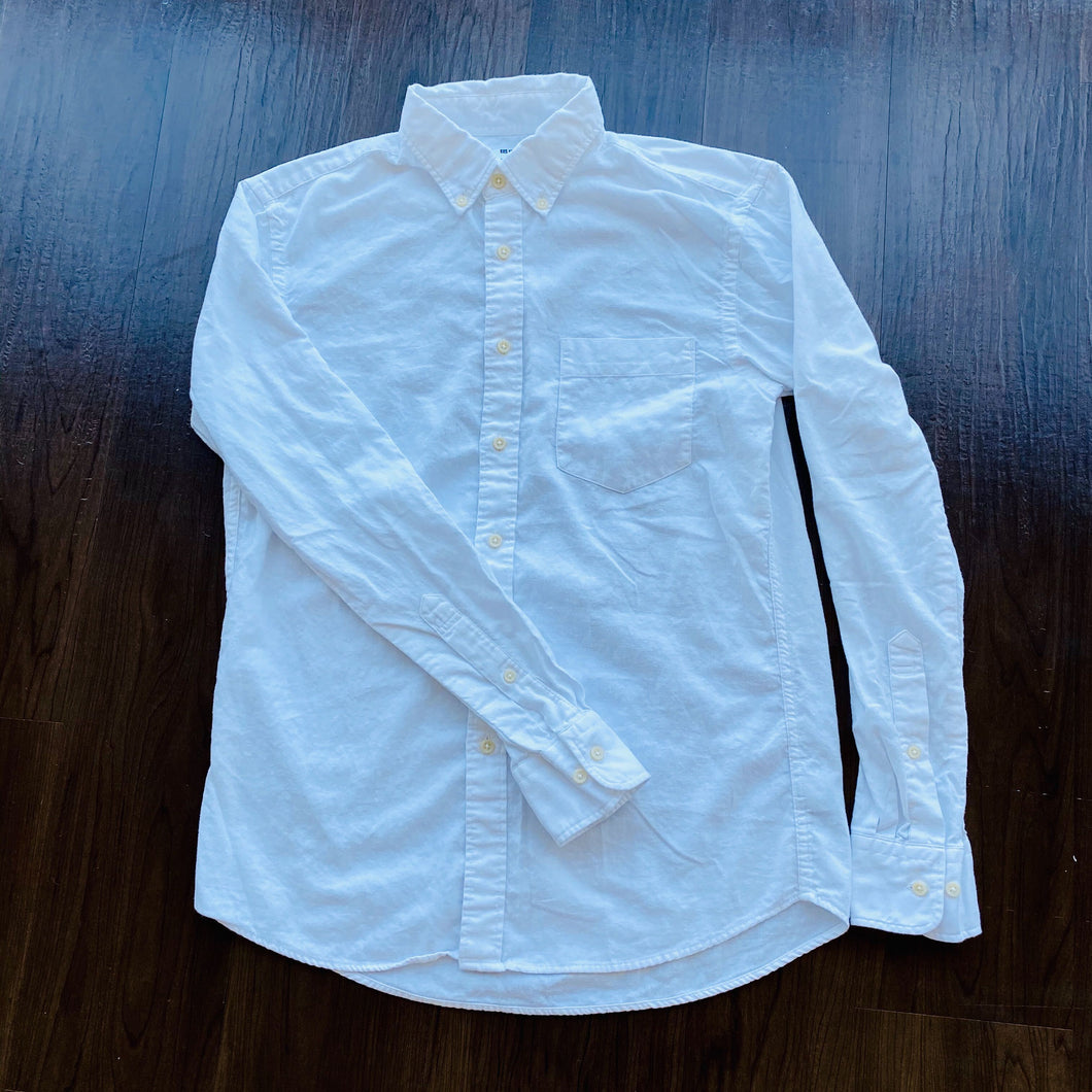 White Uniqlo Button Down Shirt