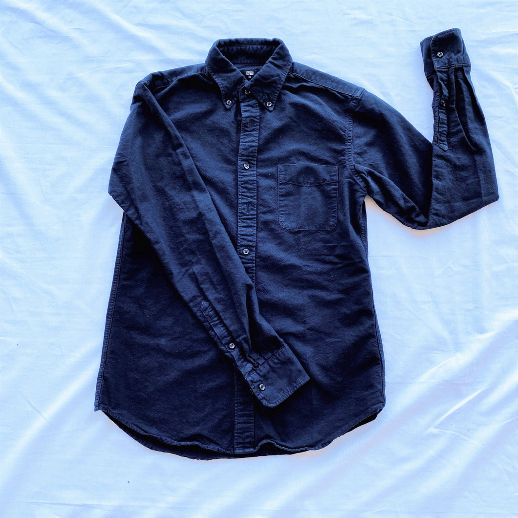 Black Uniqlo Slim Fit Button Down Shirt
