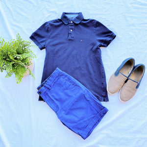 Navy Blue Tommy Hilfiger Polo Shirt