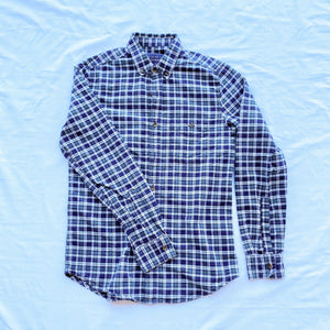 Dark blue/green Checkered Button Down Shirt