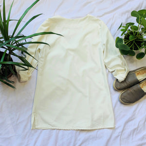 Cream V-Neck Tunic