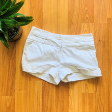 Load image into Gallery viewer, White Cuffed Flat Front Shorts
